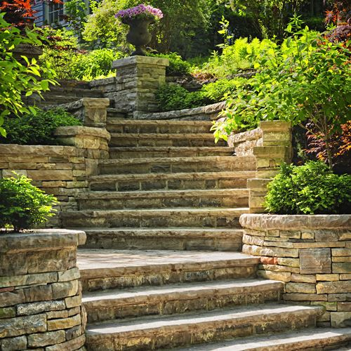 Retaining Walls and Pathways