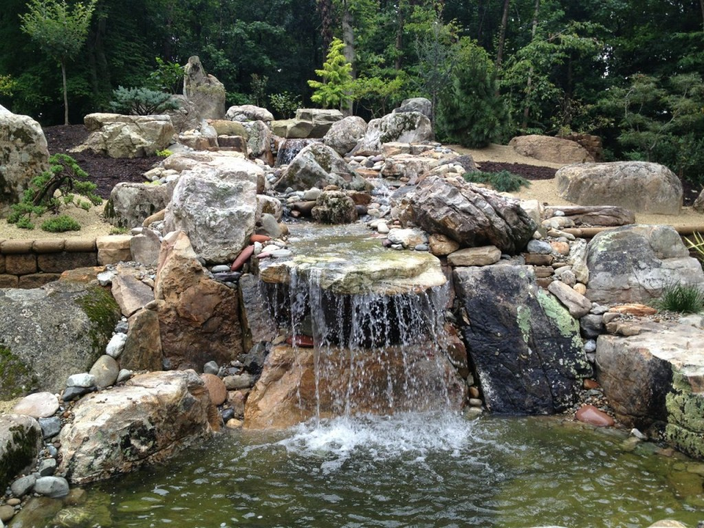 Natural stone landscaping water features amanzi marble amp granite