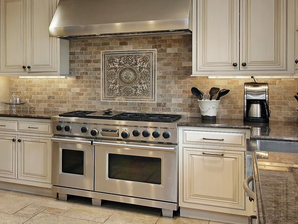 Natural Stone Backsplash Nice Look