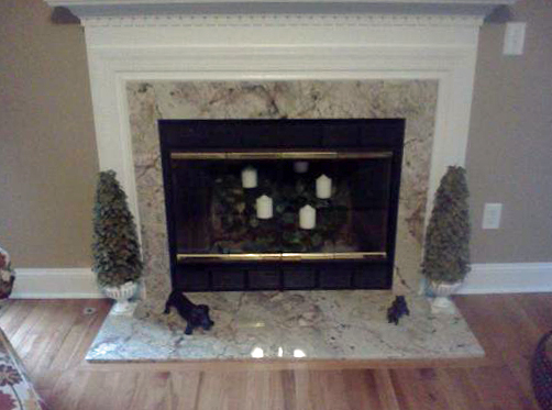 Granite Fireplace Update By Amanzi Amanzi Marble Granite